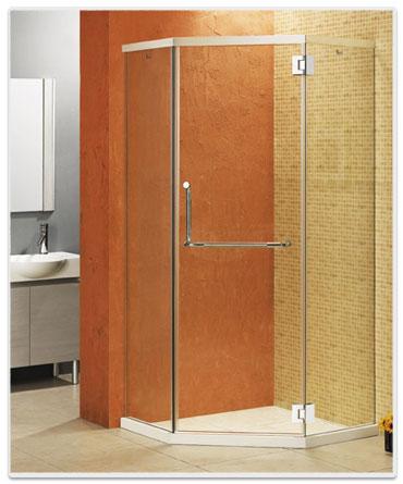 钻石型平开门淋浴房